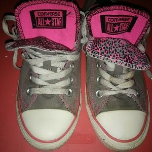 Grey and pink Converse All Stars